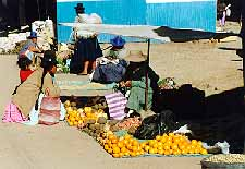 fruitverkoop in Puno